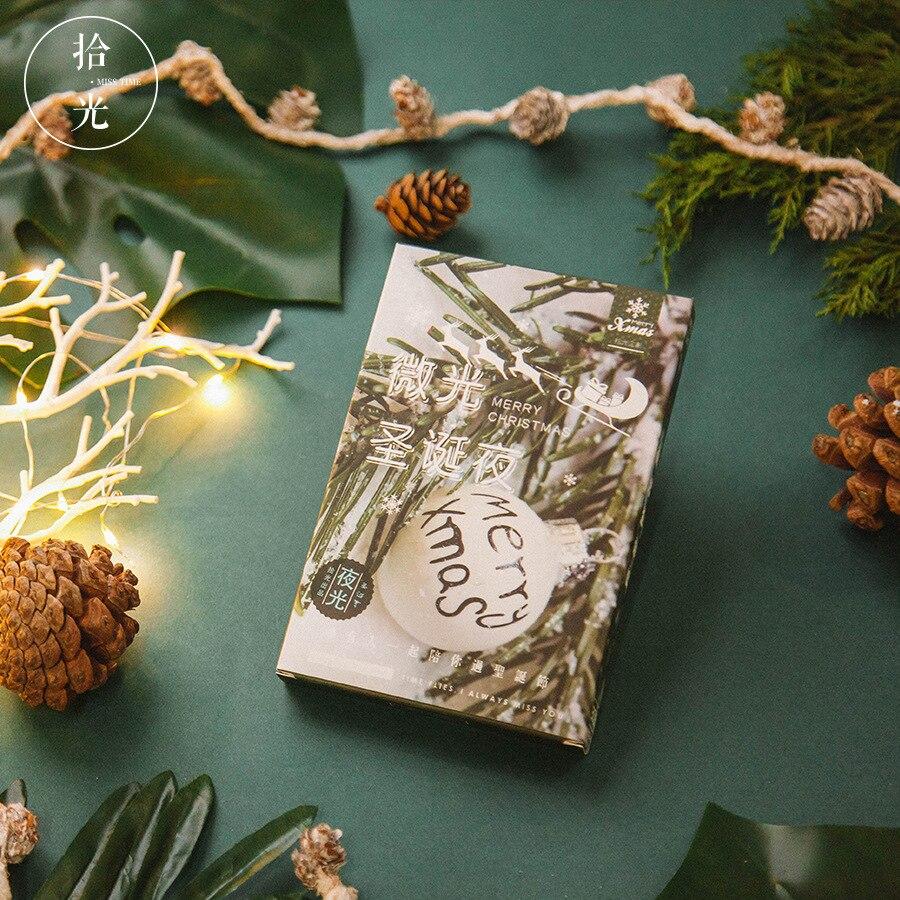 30Sheets/Set 2018 New Merry Christmas Luminous Postcard /Greeting Card/wish Card