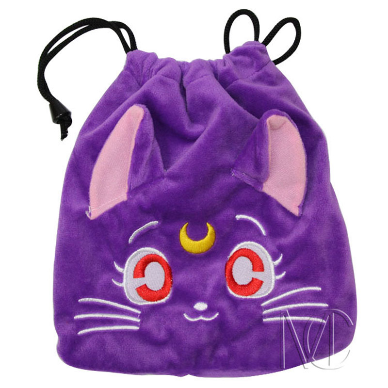 Anime/Cartoon Sailor Moon Purple Jewelry/Cell Phone Drawstring Pouch/Wedding Party Gift Bag (DRAPH_14) anime pocket monster sailor moon totoro zootopia etc jewelry cell phone drawstring pouch wedding party gift bag draph variety