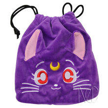 Anime/Cartoon Sailor Moon Purple Jewelry/Cell Phone Drawstring Pouch/Wedding Party Gift Bag (DRAPH_14)(China)