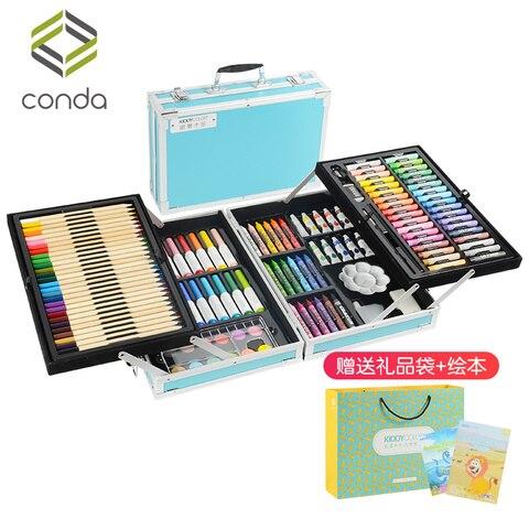 conjuntos das criancas nao toxico pintura lapis aquarela cursos ferramentas de pintura presentes das criancas