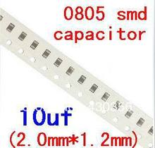 0805 smd capacitor  10uF  106K      Free shipping   200pcs/lot
