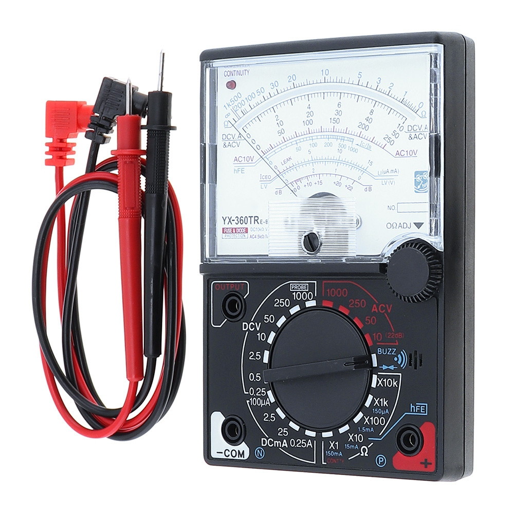 Mini Portable Poin-ter Multimeter Voltmeter DC AC Voltage DC Current Ohm Multi Meter Tester with One Pair Test Pen