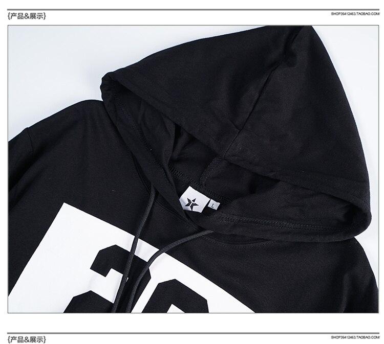 Oversize Lengthen Hoody T-shirt Zipper 29 Print Longline Tshirt Gothic Hip Hop Streetwear T shirt Men Tee Black/Pink Kanye West