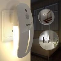 Newest Human 220v AC Body PIR Motion Sensor Night Light 9LEDs Light Sensor Smart Lights For