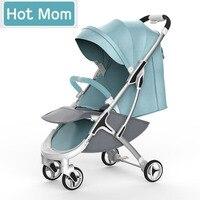 Hot Mom M19 коляска высокого пейзаж может сидеть или лежать в сложенном виде коляска легкая детская коляска России Бесплатная доставка
