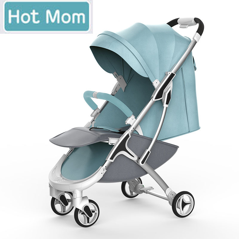 Hot Mom-M19 stroller high landscape can sit or lie folded stroller lightweight children stroller Russia free shipping ...