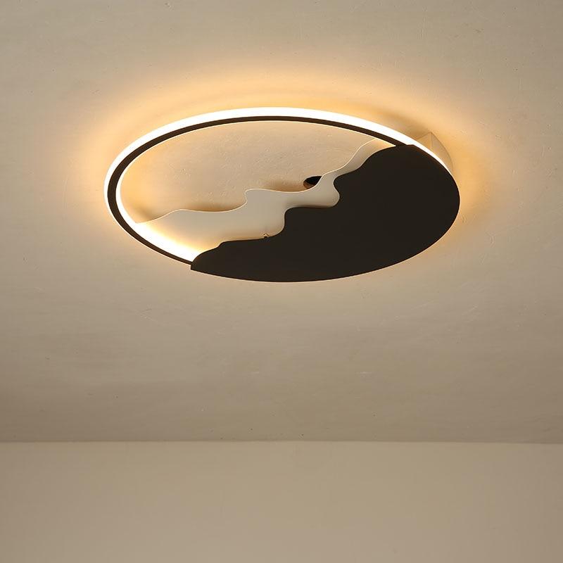 Lustre Black Round Ceiling Lights for Living room Bedroom Kids children bedroom Ceiling lamp Surface mounted Lighting fixtures цена
