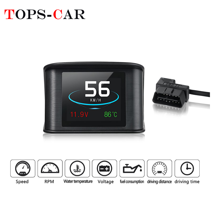 GEYIREN P10 OBDII Car Trip On-board Computer T600 Car Digital GPS OBD2 OBD Speedometer Display Water Temperature RPM Gauge