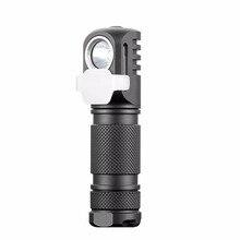 Manker E03H AA reflektor 350 lm CREE XP L/Nichia 219C LED reflektor kątowy latarka z pałąkiem na głowę, magnes ogon, dwustronny klips