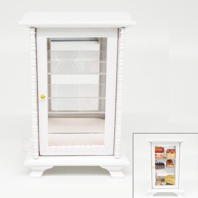 Mobile Con Gli Specchi.Odoria 1 12 Miniature Bianco Mobile Con Specchio Vetrina Armadio