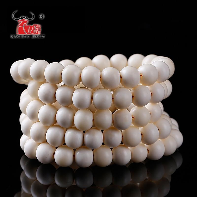 Handmade DIY Jewelry Accessorie Tibet ivory white Yak Bone loose prayer beads,6mm,8mm,10mm,12mm,108beads per strand lot hole 2mm