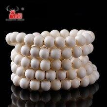 Fatti a mano Gioielli FAI DA TE Accessorie Tibet avorio bianco Yak Bone rosari allentati, 6mm, 8mm, 10mm, 12mm, 108 perle per filo lotto foro di 2 millimetri