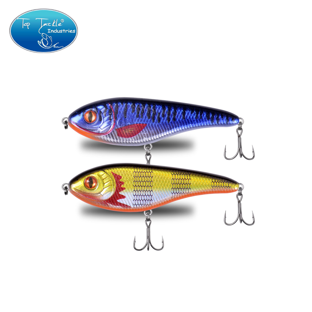 90mm 21g Color 036 To 038 Sinking Jerkbait Hard Bait Muskie Pike Fishing Lure With Strengthen Treble Hooks