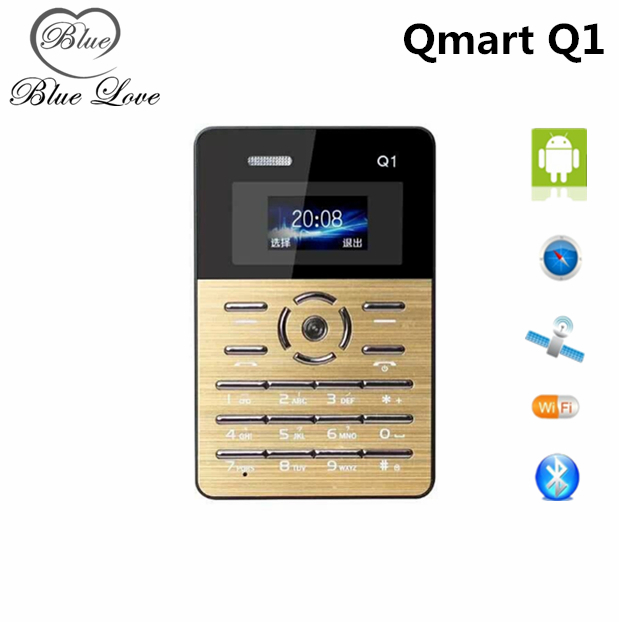 Original AIEK Q1 Cell Phone Quad Bands Students Mini Pocket Phone Low Radiation Ultra Thin Children