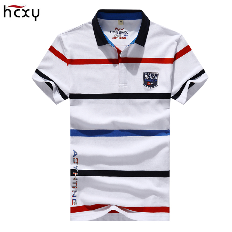 2018 Summer Men's Short-sleeved   Polo   shirts male breathable cotton Smart Casual men short sleeve   polo   shirt Striped M-4XL