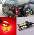 2x7443 t20 w21/5 w car led parar cauda lâmpadas luzes de freio lâmpada para suzuki jimny grand vitara
