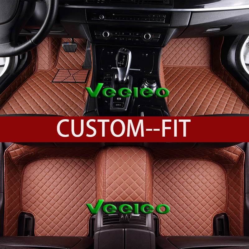 Interior Accessories Auto Floor Mats For Honda Civic 2005-2019 Viii Ix X Waterproof 3d Floor Mat Protector Car Clean Leather Car Floor Mat Pu Custom