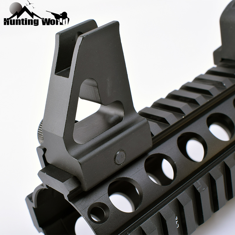 Tactical Detachable Standard AR-15 Flat Top Front Iron Sight For Gas Block And Handguard Fits For Hunting Picatinny Weaver Rail