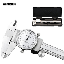 0-150mm/0.02mm Dial caliper Metric Gauge Measuring Tool Dial Caliper Shock-proof Stainless Steel Precision Vernier Caliper tools