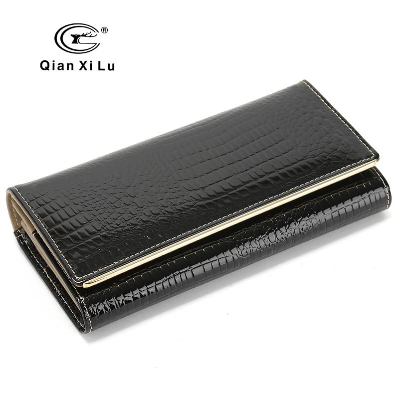 New Wedding Wallets Brand Design High Quality Leather Long Wallet Female Hasp Fashion Alligator Women Wallet And Purses Кошелёк