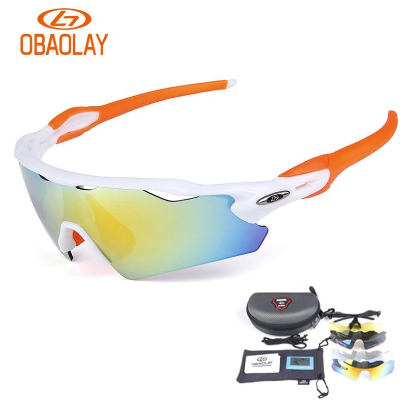e384f642151fb Obaolay óculos 5 Lentes Set MTB Da Bicicleta Da Bicicleta Óculos De Sol  Óculos de Ciclismo Óculos Polarizados Óculos de Esportes Ao Ar Livre  Bicicleta ...
