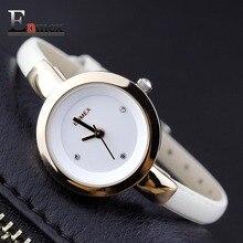 2016 Mémorial cadeau Enmex femmes creative slim montre bracelet d'or blanc graceful jeune fille élégante de mode quartz lady montres