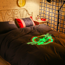 Captain America bedcover Super heroes series bedclothes night-luminous duvet cover bedding sets for double bed fast shipping