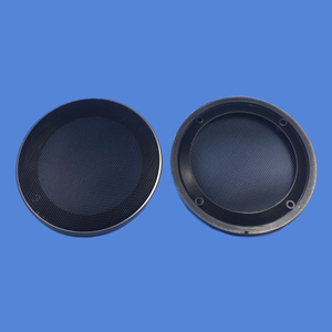 """Image 5 - For 4""""/5""""/6.5""""/8""""/10"""" Inch Speaker Conversion Net Cover Car Audio Decorative Circle Metal Mesh Grille Protection #Silver+Black"""