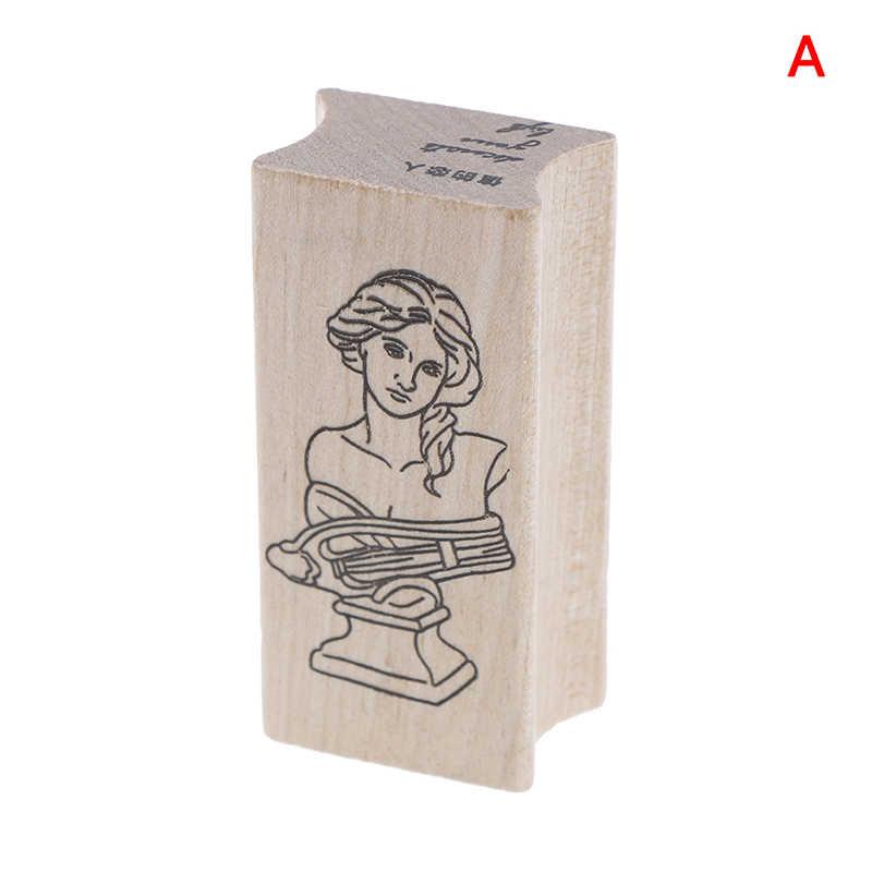 Vintage ยิปซั่มชุดไม้แสตมป์ยางสำหรับ scrapbooking เครื่องเขียน DIY scrapbooking แสตมป์ไม้