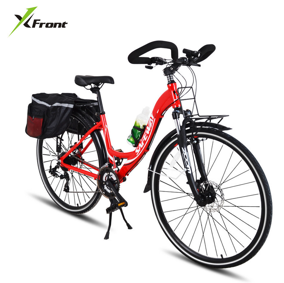 New X front Aluminum Alloy Frame Touring Bicycle Outdoor Sport 26 Inch Wheel Butterfly Bar Dual Disc Brake Bicicleta Bike in Bicycle from Sports Entertainment