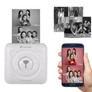 Image 2 - Mini POS Portable Printer Pocket Mobile Photo Ptinter Thermal Bluetooth 58mm Wireless Label Printer with Adhesive Sticker Paper