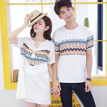 54765b52781 New Hot Men And Women Fashion Couples Clothes For Lovers T-Shirt Summer  Holiday Beach Wear Printed Tops Matching Couple T Shirts
