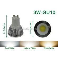 4PCS/lot high power LED Spotlight COB, 3W LED COB GU10 Light,3200K Warm White LED COB Spotlight