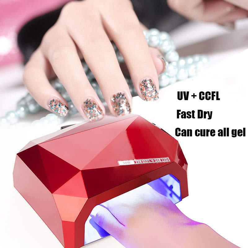 36W LED Light Lamp UV Nail Art Dryer Curing CCFL Gel Polish Timer ...