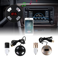 Car MP3 Audio Player Handsfree Wireless Bluetooth Car Kit FM Transmitter 2 Ports USB Car Charger