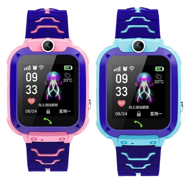 สมาร์ทนาฬิกาปอนด์เด็ก SmartWatches เด็กนาฬิกาเด็ก HD กล้อง SOS Call Location Finder Locator Tracker Anti Lost Monitor