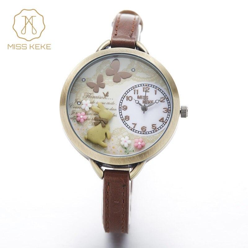 montre enfant 2018 Miss Keke 3d Mini World Clay Cute Kids Women Bracelet Watches Ladies Fashion Alice Forest Wristwatches 882