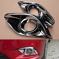 For Mazda 6 Atenza 2013 2014 2015 2016 2017 2018 Front Fog Light Lamp Cover Trim ABS Chrome Car Styling Accessories 2pcs