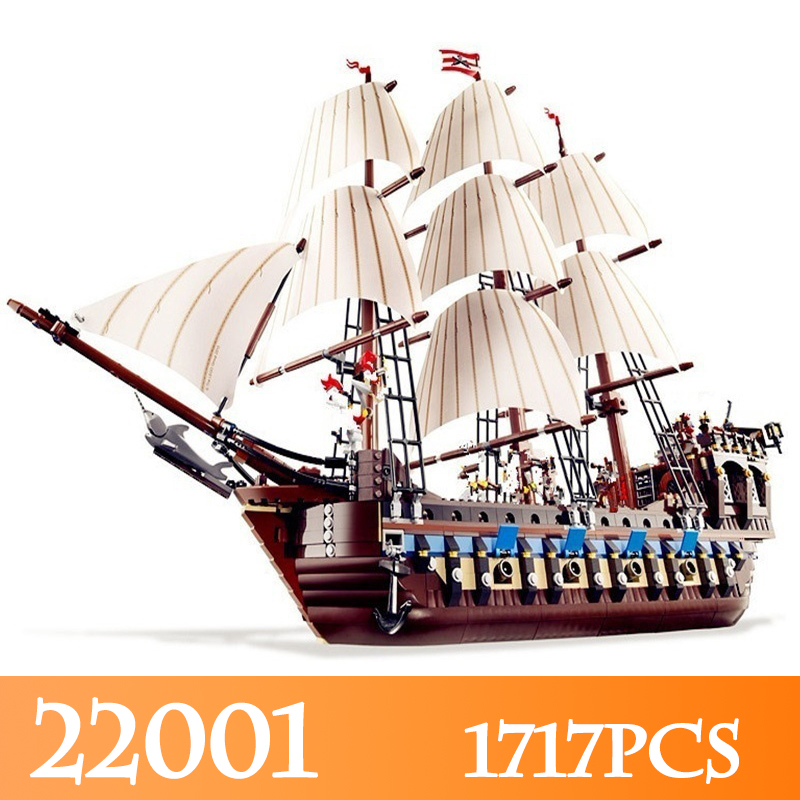 22001 1717pcs Imperial Warships Model Building Kits Compatible 10210 Pirate Ship LegoINGlys Blocks Bricks Educational Toys