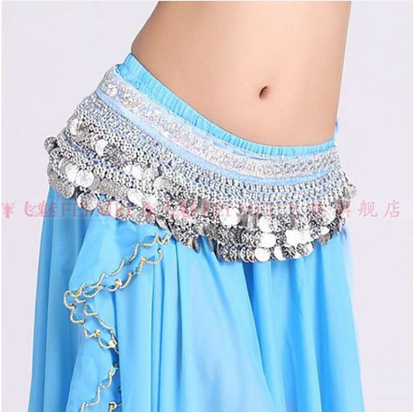 New Style Belly Dance Costumes Velvet 3rows 338 Silver Coins Belly Dance Hip Scarf For Women Belly Dancing Belts