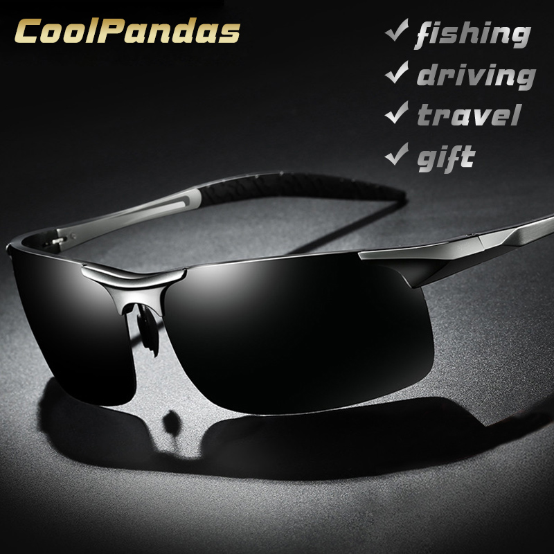 Alumínio magnésio polarizado óculos de sol aviação hd condução óculos de sol masculino esporte óculos de sol lunette soleil homme oculos