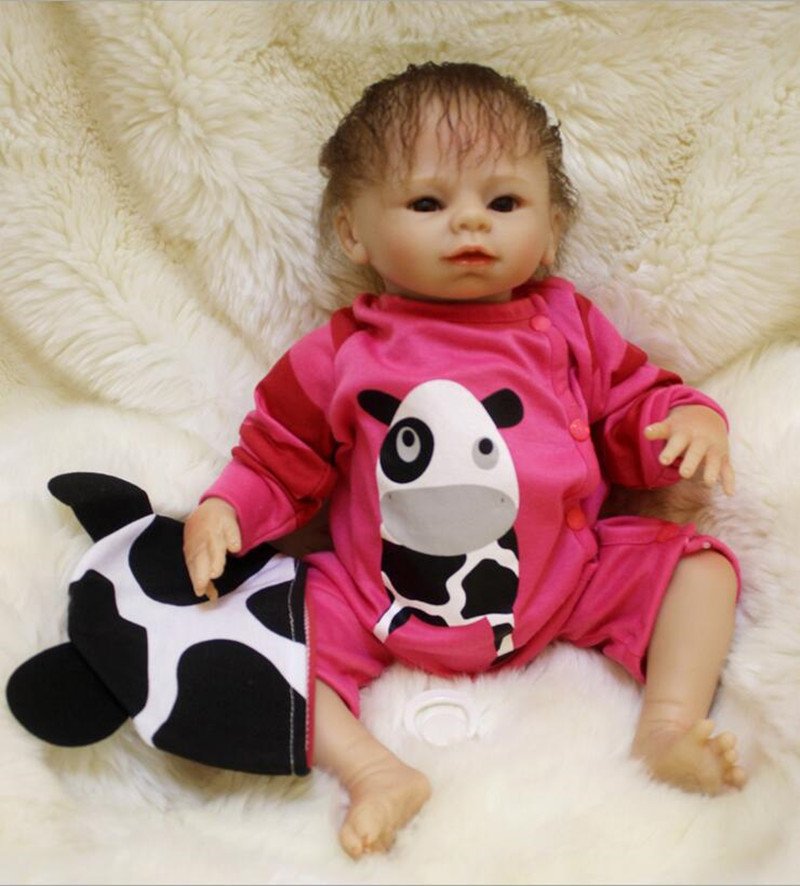 Lifelike Reborn Babies 45cm Soft Silicone Reborn Baby Doll Kids Toys Play House Toy Birthday Christmas Gift Juguetes Brinquedos 22 inch reborn baby doll vinyl like silicone girls christmas gift baby toys birthday gifts juguetes lifelike play doll