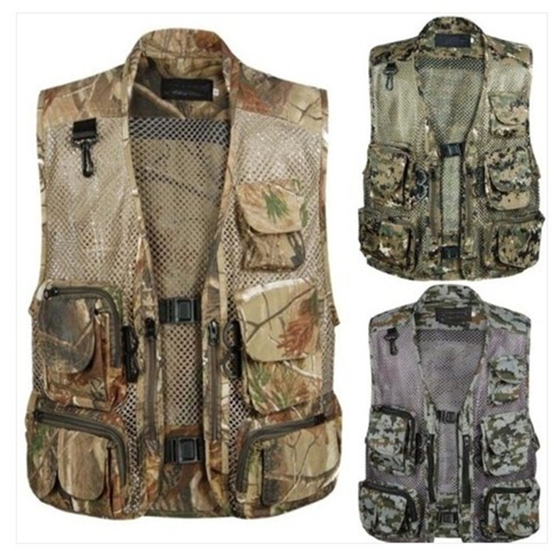 2017 Summer Waterproof Vest Quality Casual Camouflage Waistcoat Vest for Men's Photographer Sleeveless Jackets