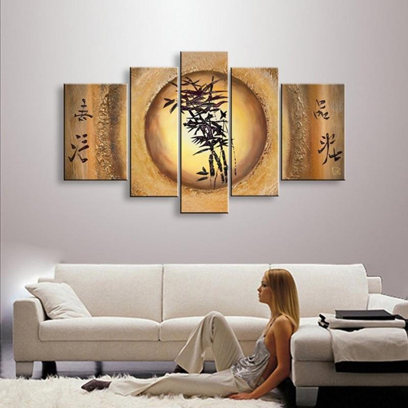 Aliexpress.com : Buy Handpainted Large Golden Flower Oil