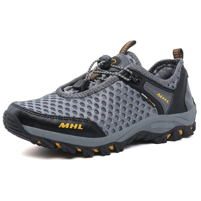 Al aire libre de Los Nuevos Hombres de Deportes de Verano de Malla Zapatos Lace Up Super Cool Deporte de Agua Zapatos Para Caminar de Los Hombres Respirables Cómodos zapatos