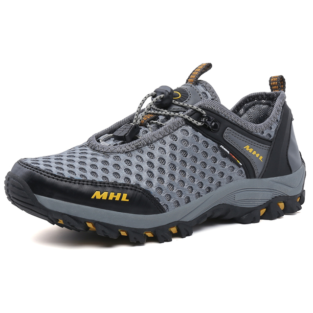 Outdoor New Men Summer Sport Mesh Shoes Lace Up Super Cool Sport Water Shoes Walking Comfortable Breathable Men's Shoes zapatos
