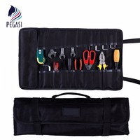 PEGASI High Quality Durable Waterproof Oxford Canvas Reel Roll Type Storage Electrical Tools Waist Bag Pockets