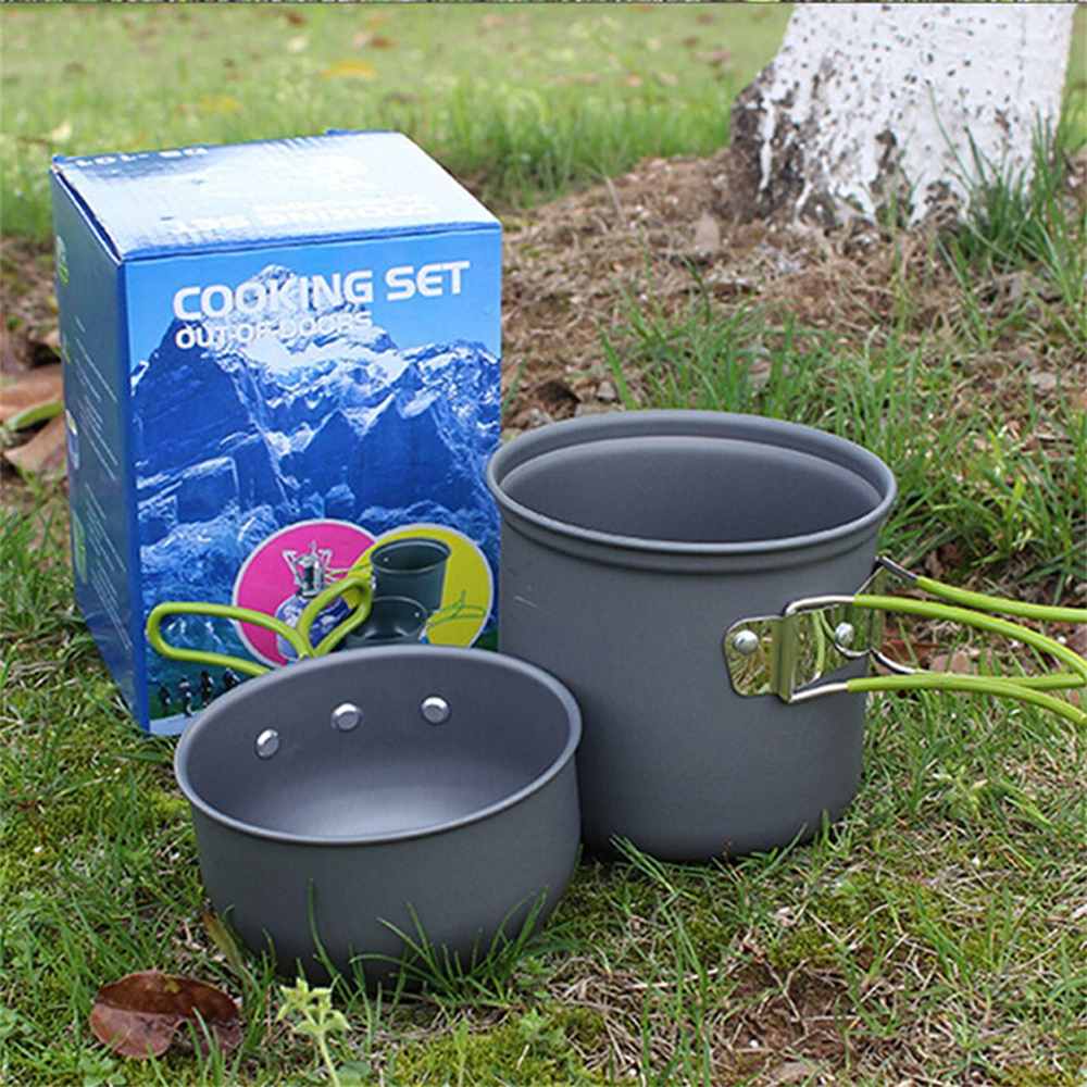 6d9e440166b9 Camping Mug Ultralight Camping Cookware Utensils Outdoor Tableware Set  Hiking Picnic Backpacking Camping Tableware Pot SES0055