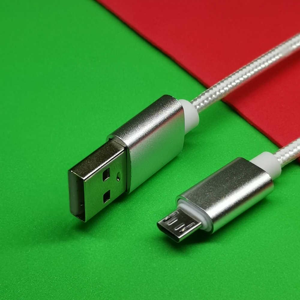 1m マイクロ USB ケーブルナイロン高速充電 USB データケーブルサムスン Xiaomi LG タブレット Android 携帯電話 USB 充電コード