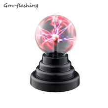 Novelty Plasma Ball Light Touch Sensor Lighting Power By USB Or Battery For Home Party Table Decoration Lamp Children Kids Gift